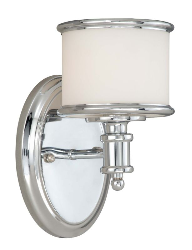 Vaxcel Lighting CR-VLU001 Carlisle 1 Light Bathroom Sconce - 5.75 Sale $70.00 ITEM: bci1572691 ID#:CR-VLU001CH UPC: 884656692051 :