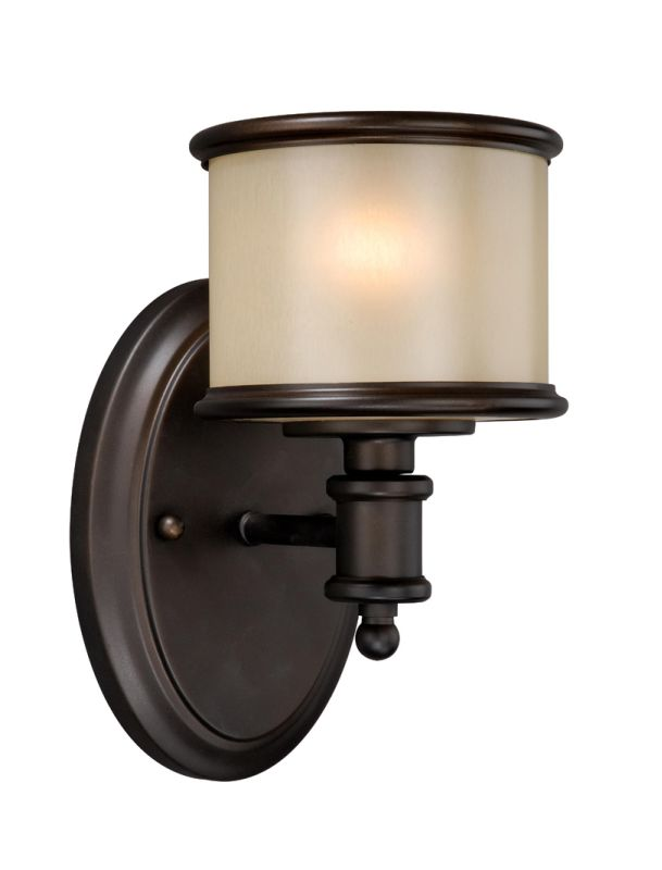 Vaxcel Lighting CR-VLU001 Carlisle 1 Light Bathroom Sconce - 5.75 Sale $70.00 ITEM: bci1572692 ID#:CR-VLU001NB UPC: 884656692044 :