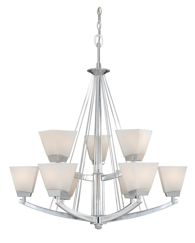 Vaxcel Lighting KD-CHU009 Kendall 9 Light Two Tier Chandelier - 32.5
