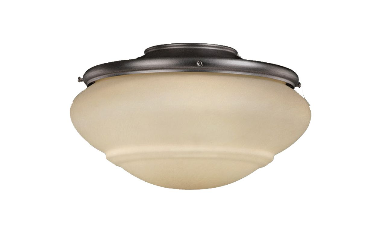"Vaxcel Lighting LK51216 Fan Light Kit 11.75"" 2-Light Ceiling Fan Light"
