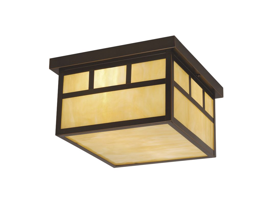 Vaxcel Lighting OF37211 Mission 2 Light Flush Mount Outdoor Ceiling