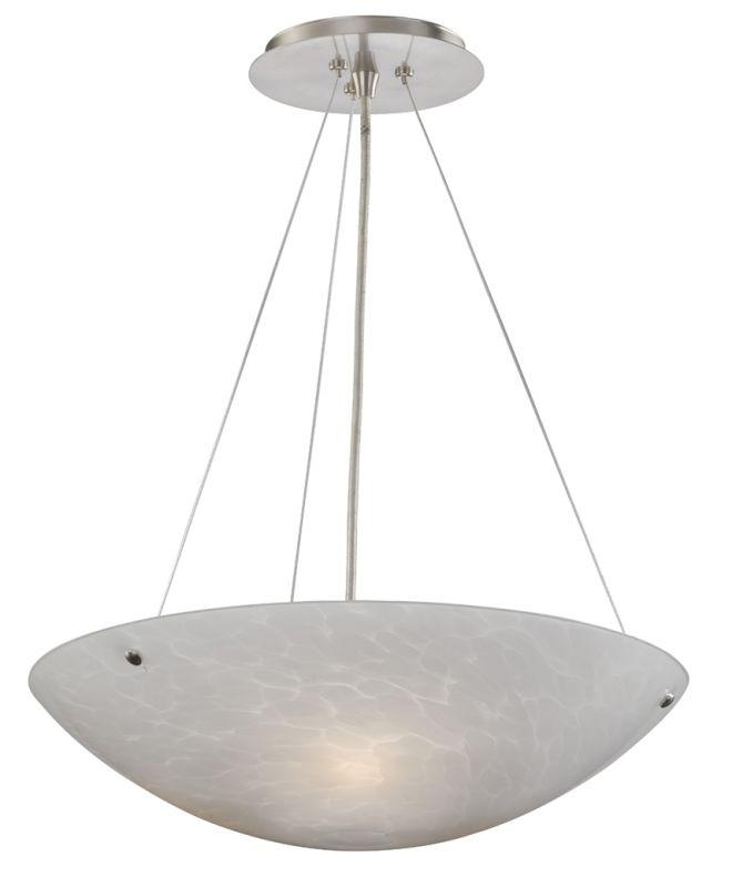 Vaxcel Lighting PD53211SN White Umbra Contemporary Milano Pendant