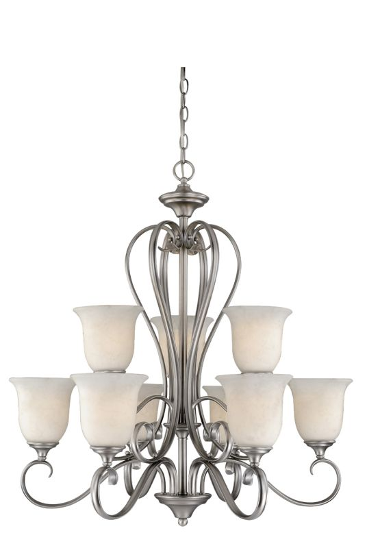 Vaxcel Lighting RV-CHU009 Riviera 9 Light Two Tier Chandelier with Sale $590.00 ITEM: bci1572815 ID#:RV-CHU009AP UPC: 884656700275 :