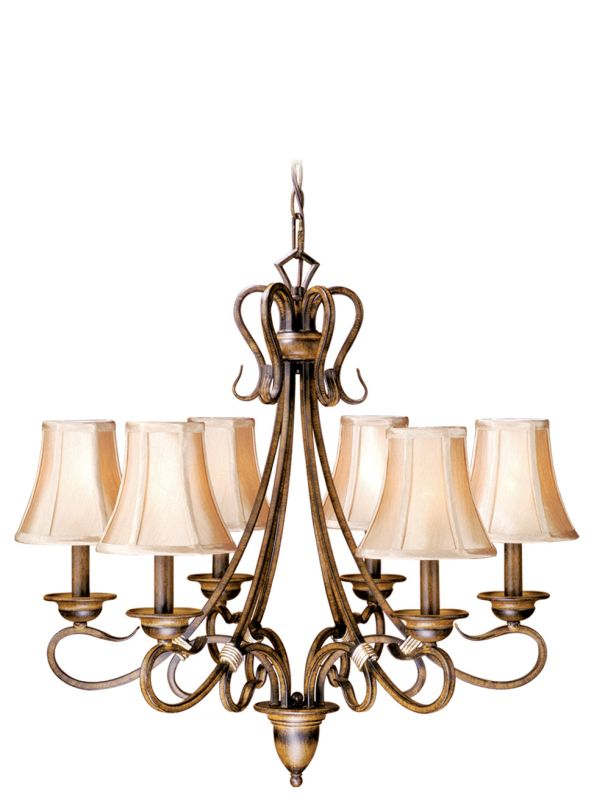 Vaxcel Lighting BE-CHS006AW Berkeley 6 Light Single Tier Chandelier
