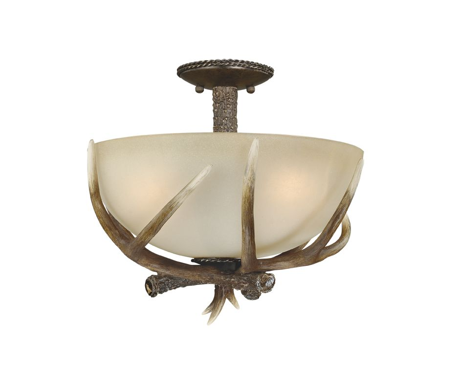 "Vaxcel Lighting C0020 Yoho 3 Light 17"" Wide Semi-Flush Indoor Ceiling"