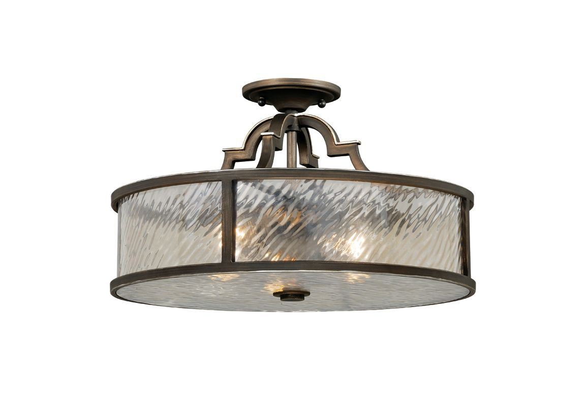 Vaxcel Lighting C0030 Simone 3 Light Flush Mount Indoor Ceiling