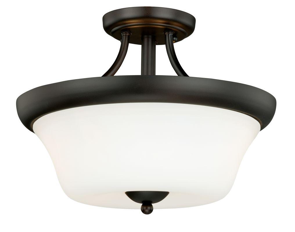 Vaxcel Lighting C0065 Poirot 2 Light Semi-Flush Indoor Ceiling Fixture
