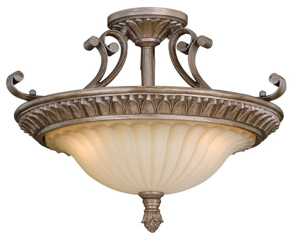 Vaxcel Lighting C0080 Avenant 3 Light Semi-Flush Indoor Ceiling Sale $220.00 ITEM: bci2628415 ID#:C0080 UPC: 884656732993 :