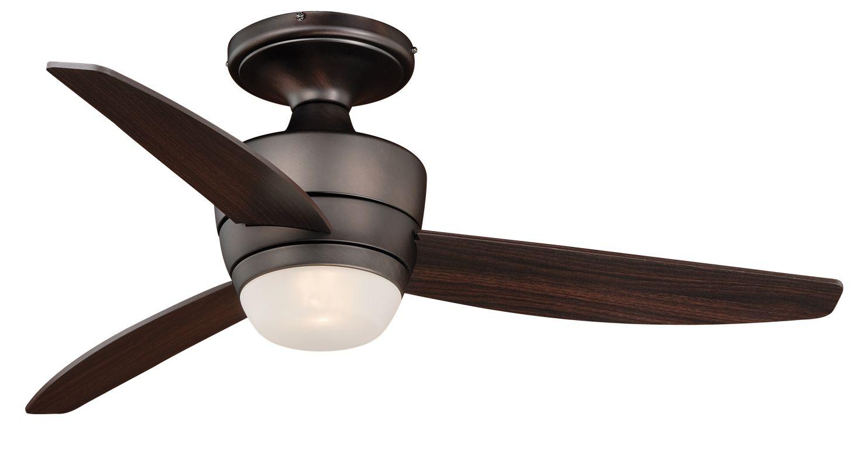 "Vaxcel Lighting F0031 Adrian 44"" 3 Blade Indoor Ceiling Fan - Light"