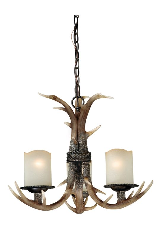 Vaxcel Lighting H0013 Yoho 3 Light Single Tier Chandelier with Frosted