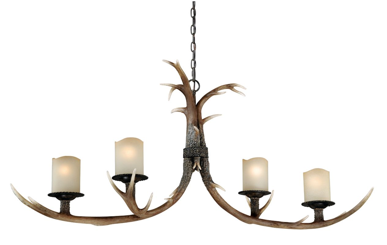 Vaxcel Lighting H0015 Yoho 4 Light Single Tier Chandelier with Frosted