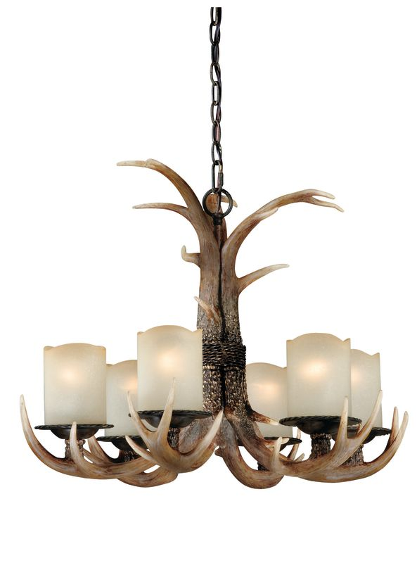 Vaxcel Lighting H0016 Yoho 6 Light Single Tier Chandelier with Frosted