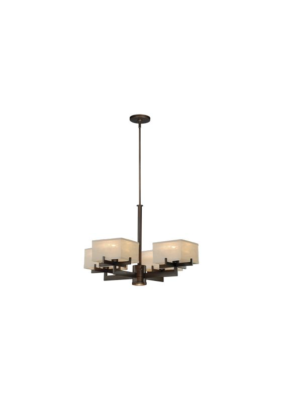 Vaxcel Lighting H0043 Canvas 4 Light Single Tier Chandelier with Glass