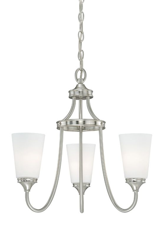 Vaxcel Lighting H0052 Lorimer 3 Light Single Tier Chandelier with
