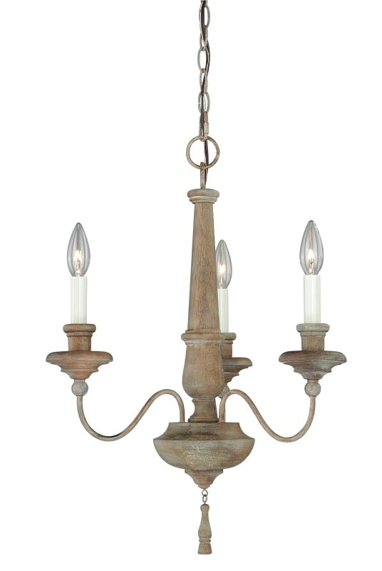 Vaxcel Lighting H0078 Lucca 3 Light Single Tier Chandelier - 18.5