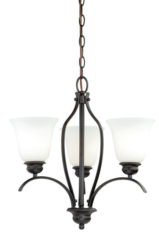 Vaxcel Lighting H0084 Darby 3 Light Single Tier Chandelier with Etched