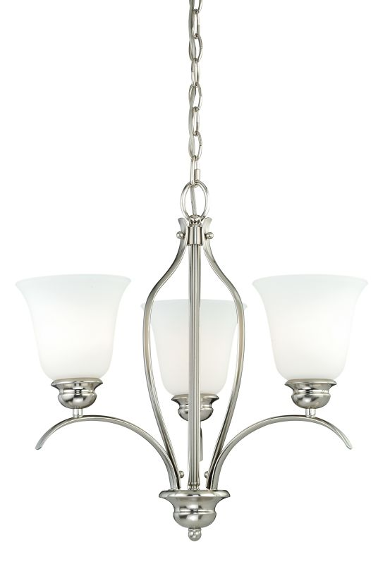 Vaxcel Lighting H0090 Darby 3 Light Single Tier Chandelier with Etched