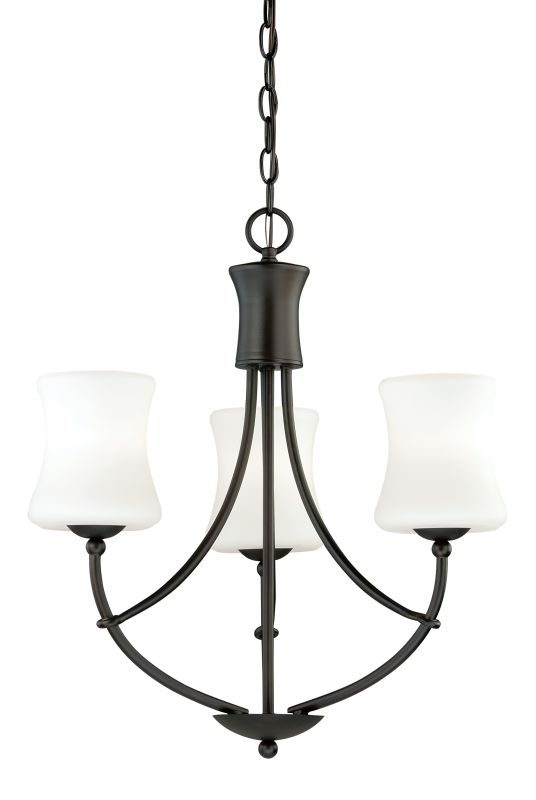 Vaxcel Lighting H0104 Poirot 3 Light Single Tier Chandelier with