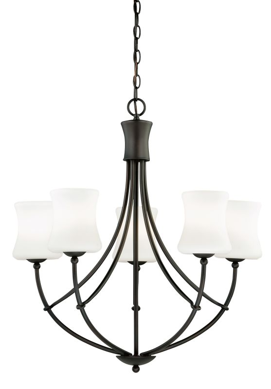 Vaxcel Lighting H0105 Poirot 5 Light Single Tier Chandelier with