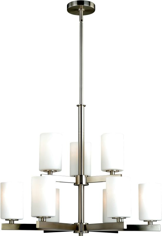 Vaxcel Lighting H0123 Glendale 9 Light Two Tier Chandelier with Glass