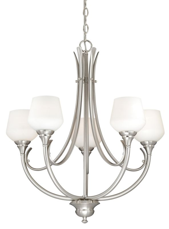 Vaxcel Lighting H0125 Grafton 5 Light Single Tier Chandelier with Sale $298.00 ITEM: bci2628434 ID#:H0125 UPC: 884656733747 :