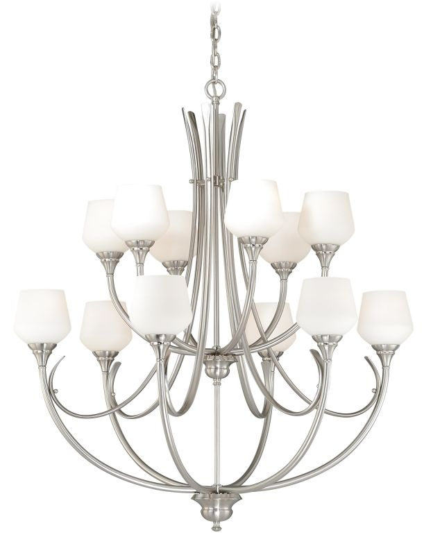 Vaxcel Lighting H0129 Grafton 12 Light Two Tier Chandelier with Glass Sale $900.00 ITEM: bci2628438 ID#:H0129 UPC: 884656733785 :
