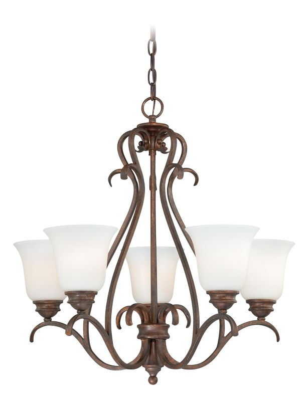 Vaxcel Lighting H0154 Hartford 5 Light Single Tier Chandelier with Sale $250.00 ITEM: bci2628463 ID#:H0154 UPC: 884656734034 :
