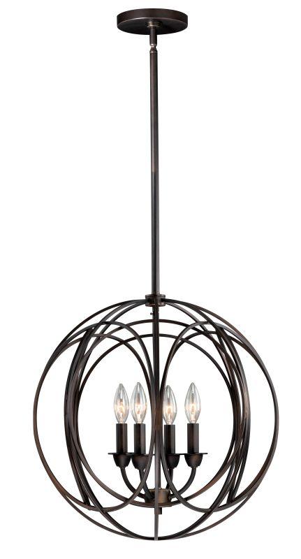 Vaxcel Lighting P0014 Solstice 4 Light Pendant Burnished Bronze Indoor