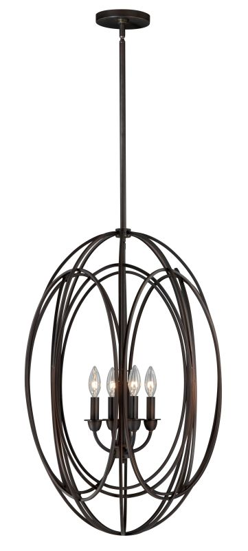 Vaxcel Lighting P0016 Solstice 4 Light Pendant Burnished Bronze Indoor