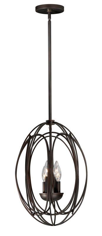 Vaxcel Lighting P0017 Solstice 4 Light Pendant Burnished Bronze Indoor