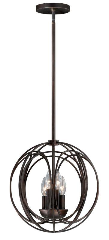 Vaxcel Lighting P0020 Solstice 4 Light Pendant Burnished Bronze Indoor