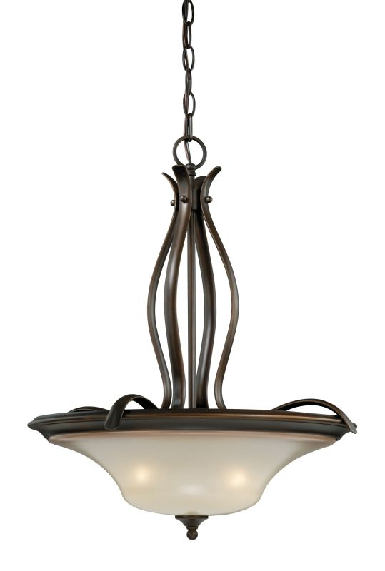 Vaxcel Lighting P0028 Sonora 3 Light Pendant Venetian Bronze Indoor
