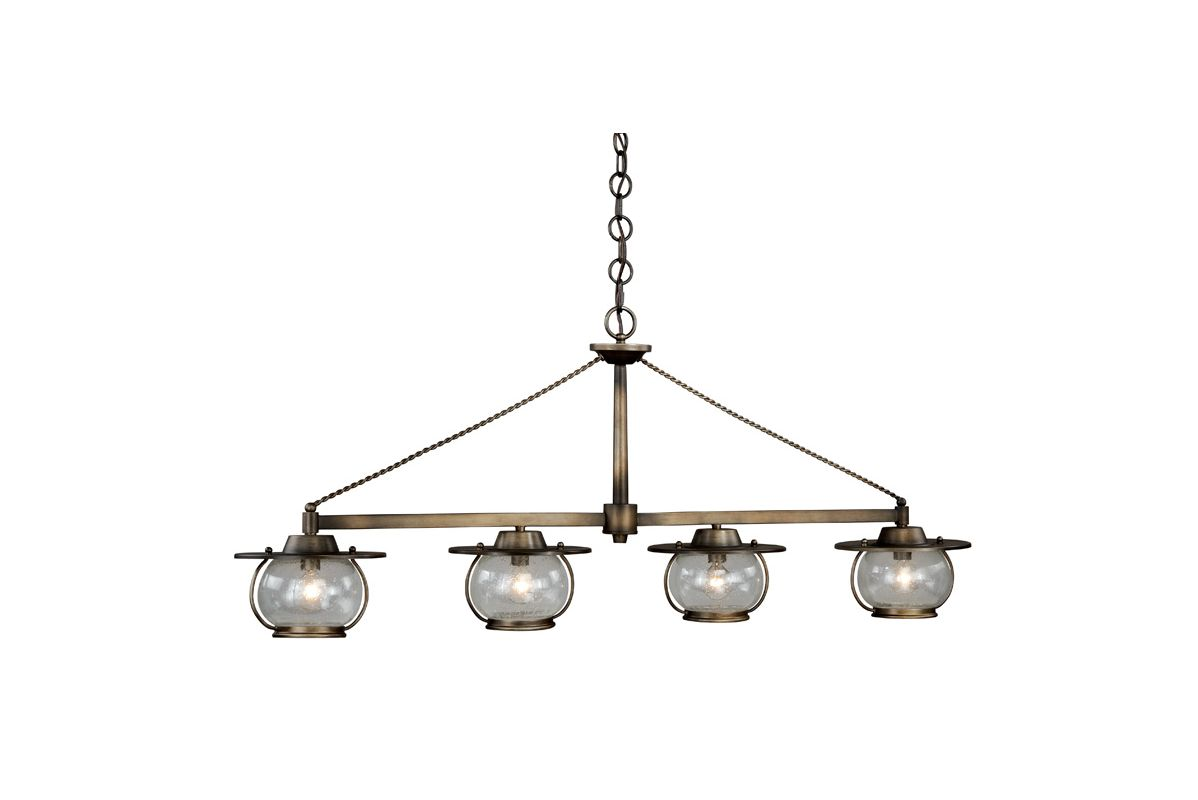 Vaxcel Lighting P0031 Jamestown 4 Light Chandelier Parisian Bronze