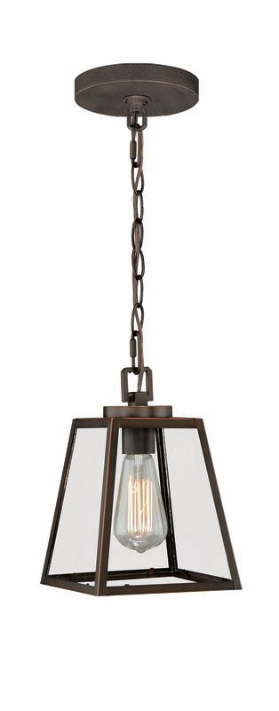 Vaxcel Lighting P0050 Pendant 1 Light Lantern Pendant Burnished Bronze