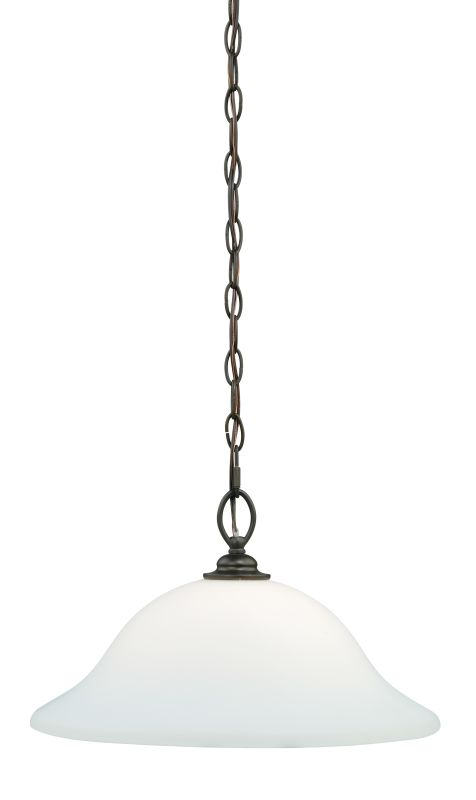 Vaxcel Lighting P0053 Concord 1 Light Bowl Shaped Pendant Oil Rubbed