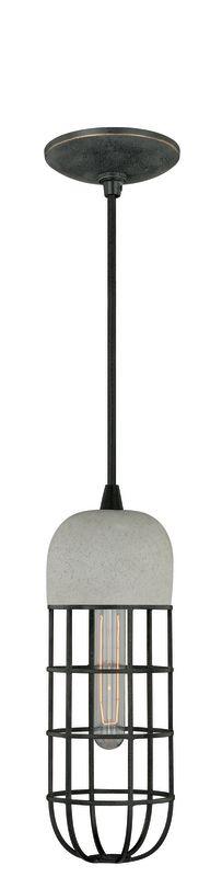 Vaxcel Lighting P0073 Pendant 1 Light Industrial Pendant Black Iron Sale $86.70 ITEM: bci2368884 ID#:P0073 UPC: 884656730166 :