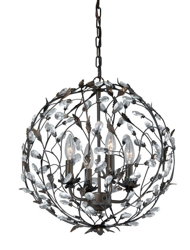 Vaxcel Lighting P0146 Trellis 4 Light Single Tier Chandelier - 17 Sale $382.50 ITEM: bci2628484 ID#:P0146 UPC: 884656734300 :