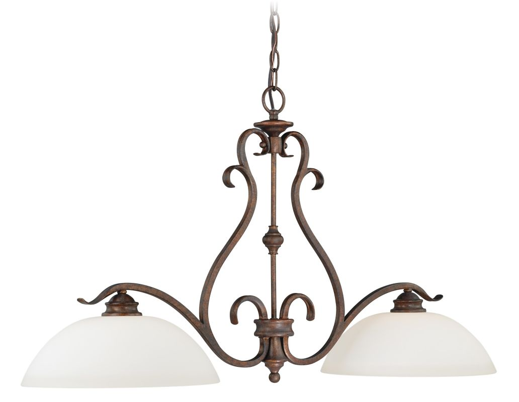 Vaxcel Lighting P0148 Hartford 2 Light Single Tier Chandelier with