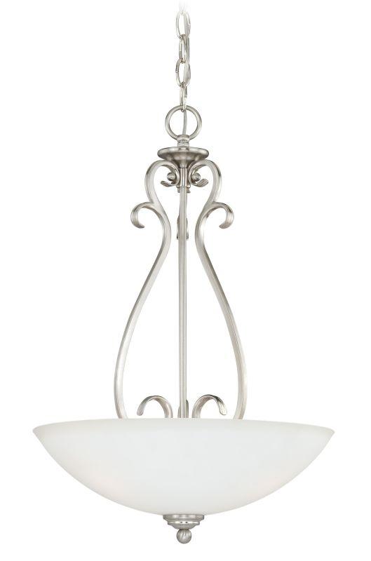 Vaxcel Lighting P0151 Hartford 3 Light Foyer Pendant Satin Nickel Sale $144.50 ITEM: bci2628489 ID#:P0151 UPC: 884656734102 :