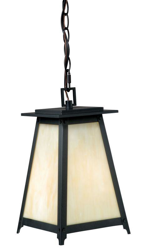 Vaxcel Lighting T0024 Prairieview 1 Light Pendant Oil Rubbed Bronze