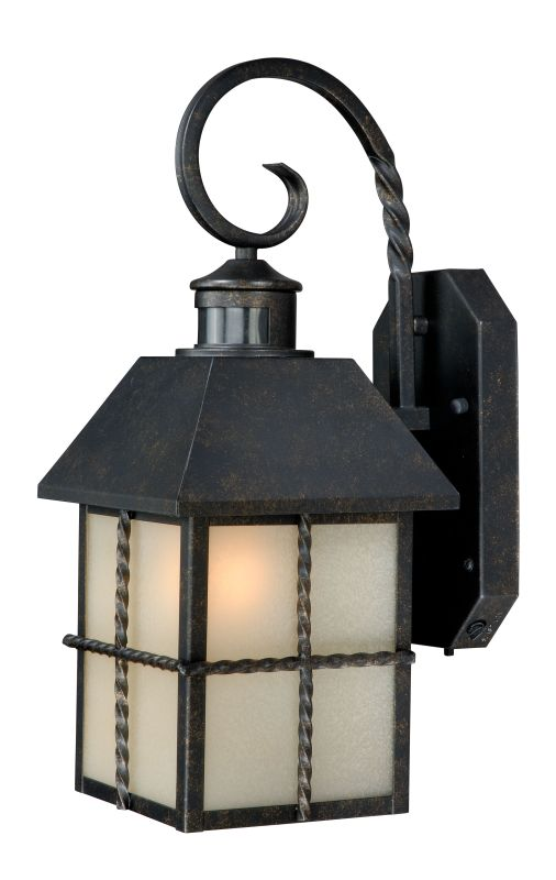 Vaxcel Lighting T0026 Gold Stone Savannah Smart Lighting 1 Light Outdoor Wall Sconce With