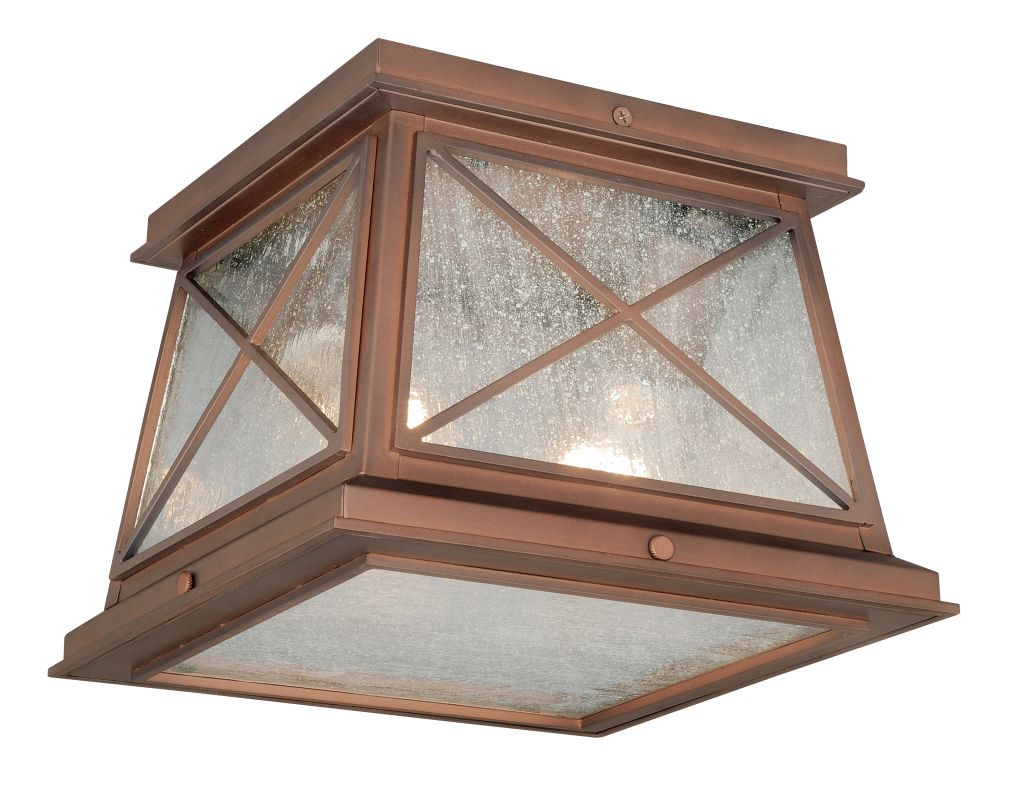 Vaxcel Lighting T0065 Mackinac 2 Light Flush Mount Outdoor Ceiling