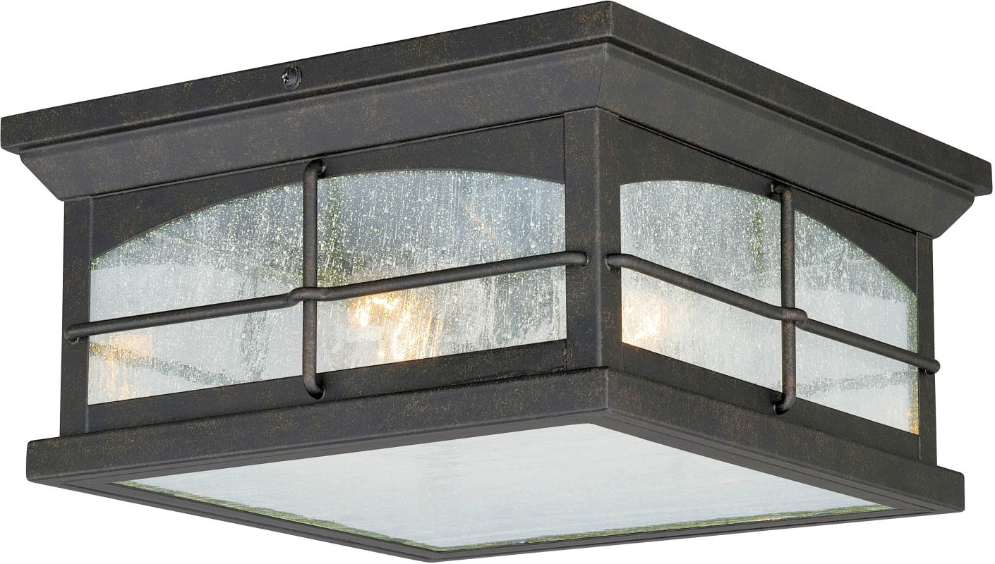 Vaxcel Lighting T0075 Bembridge 2 Light Flush Mount Outdoor Ceiling