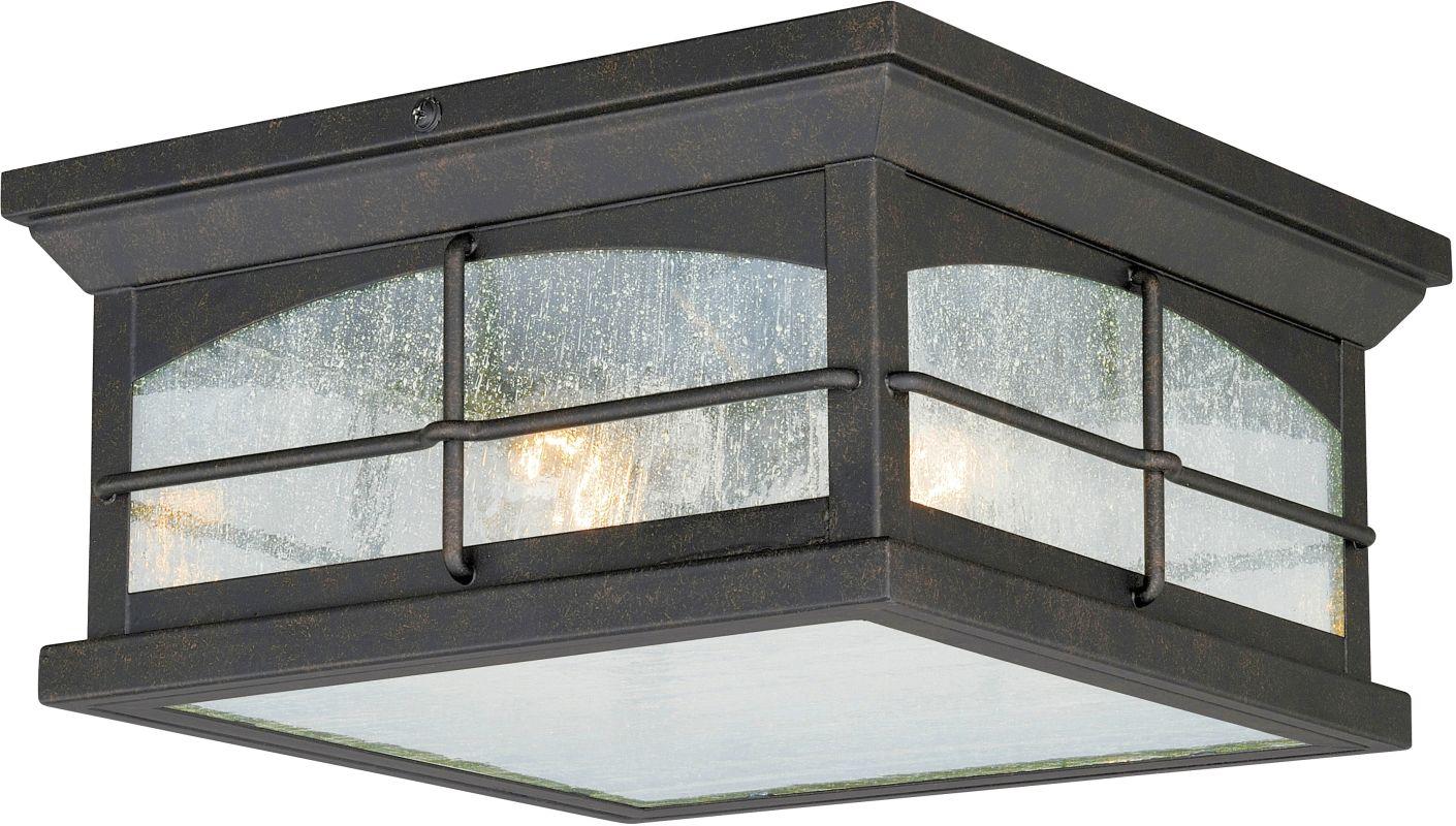 Vaxcel Lighting T0075 Bembridge 2 Light Flush Mount Outdoor Ceiling