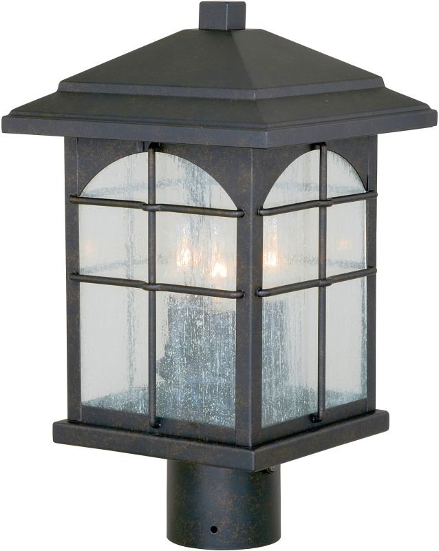Vaxcel Lighting T0076 Bembridge 3 Light Outdoor Post Light Gold Stone