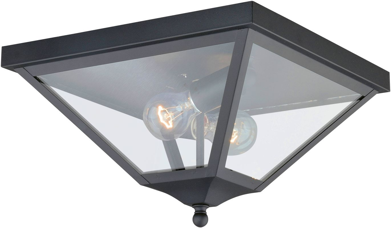 Vaxcel Lighting T0084 Nottingham 2 Light Flush Mount Outdoor Ceiling