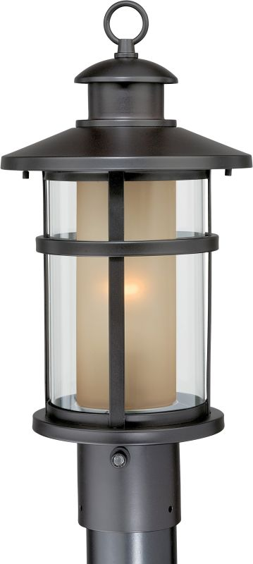 Vaxcel Lighting T0088 Cadiz 1 Light Outdoor Post Light Oil Rubbed