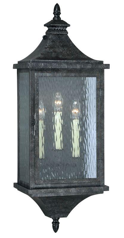 """Vaxcel Lighting T0203 Cavanaugh 3 Light 34"""" Tall Single Photocell"""