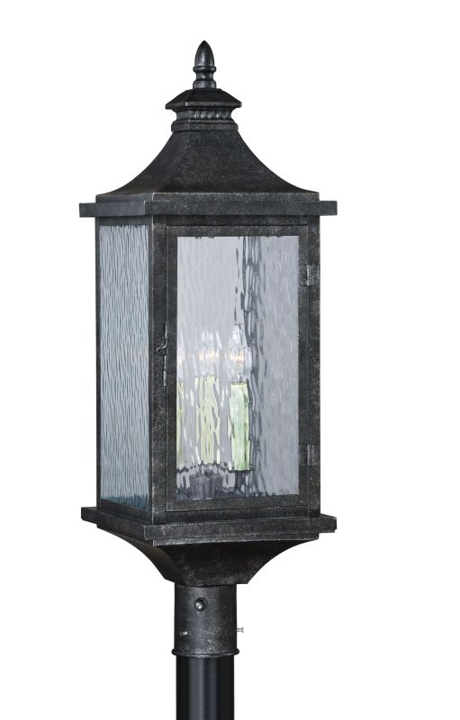 """Vaxcel Lighting T0204 Cavanaugh 3 Light 31"""" Tall Single Photocell"""