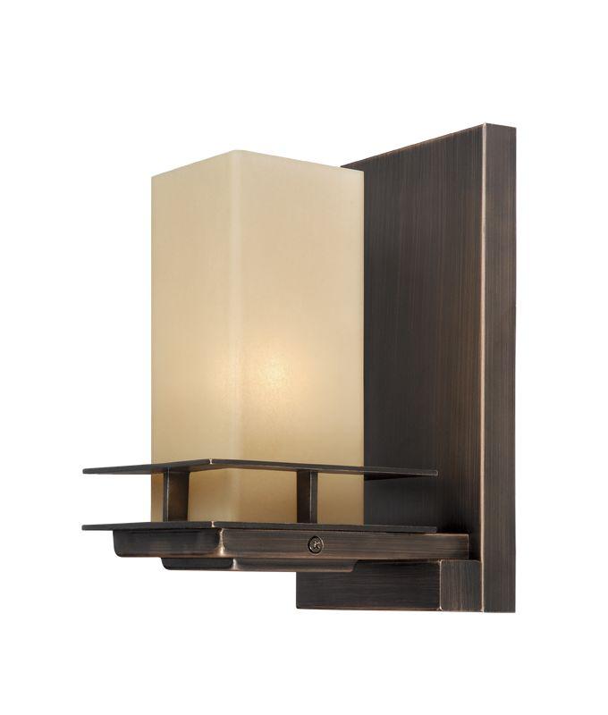 Wall Hugging Floor Lamp : Vaxcel Lighting W0043 Sienna Bronze Oak Park 1 Light Wall Sconce - LightingDirect.com